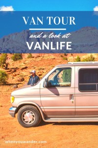 Are you considering or curious about vanlife? Here's a full van tour of our tiny home on wheels including build details about storage, organization, power, and refrigeration solutions.