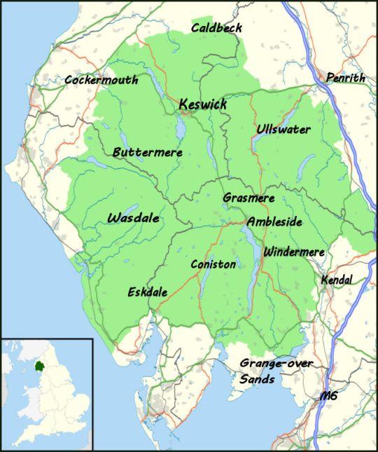 The Lake District Map About the Lake District   Where2Walk Where2Walk