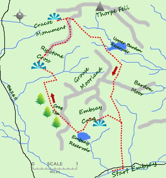 Embsay Crag map