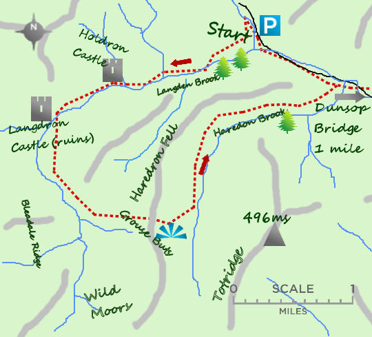 Castle of Bowland map