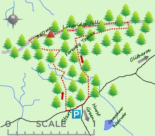 Longridge Fell map