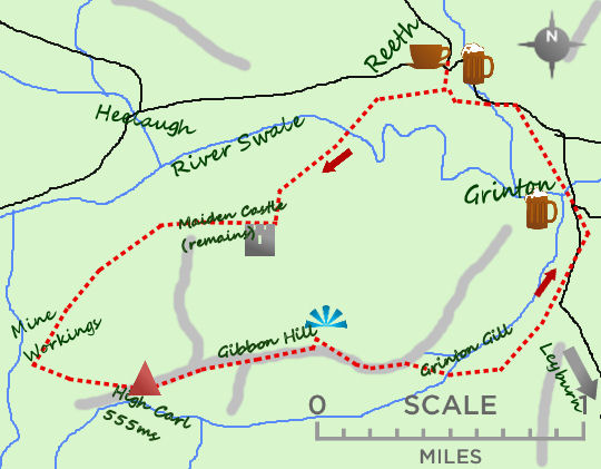 Reeth Grinton map