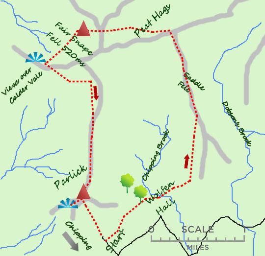 Fair Snape Fell map