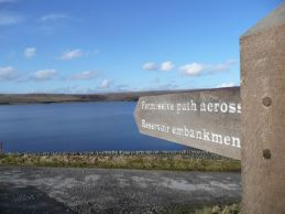 Grimwith Reservoir signage