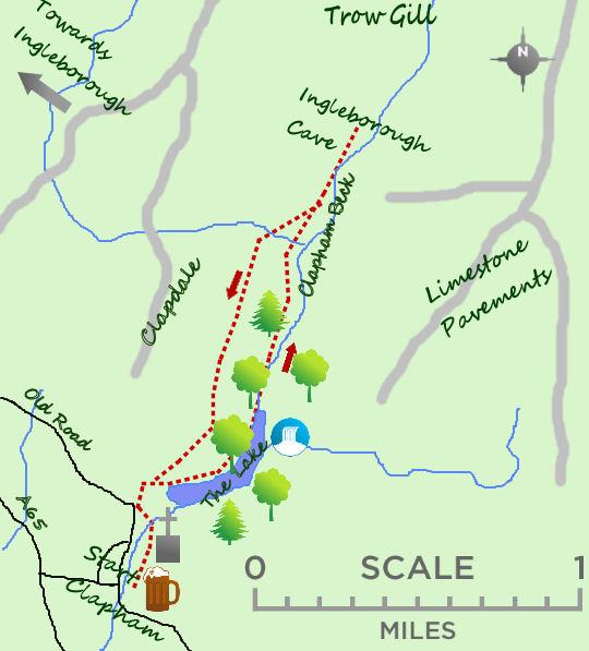 Ingleborough Cave map