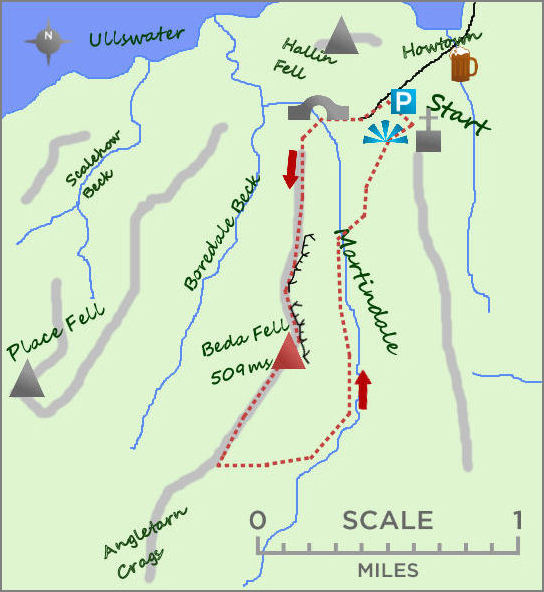 Beda Fell & Martindale map