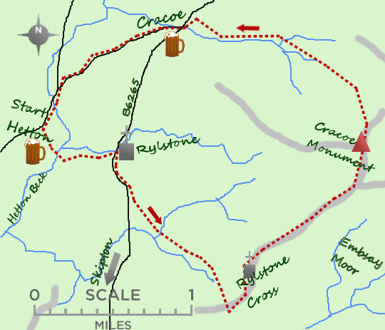 Cracoe & Rylstone Cross map