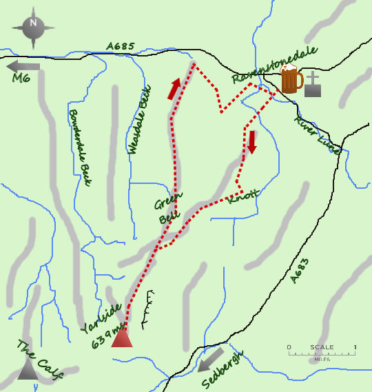 Northern Howgills map
