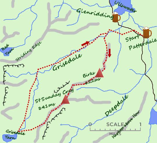 St Sundays Crag map