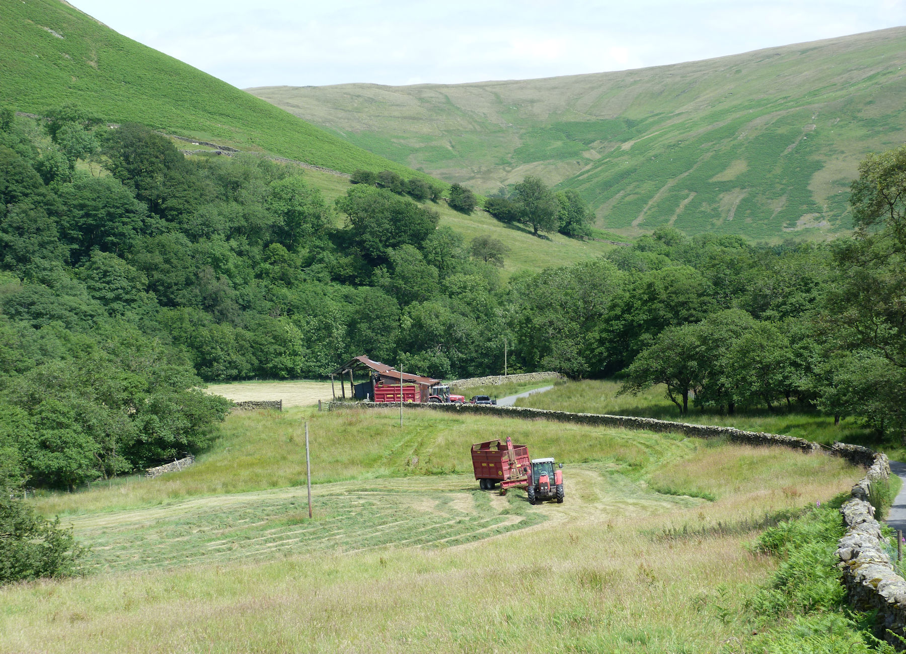 Tractors in Borrowdale