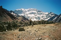 South Face Aconcagua from Plaza Franza
