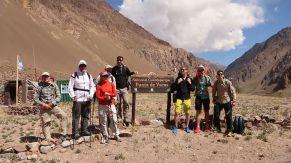 The team at Punta de Vacas