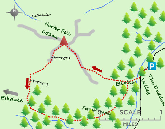 Harter Fell map