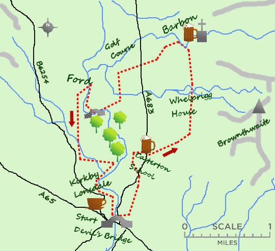 Barbon & Casterton map