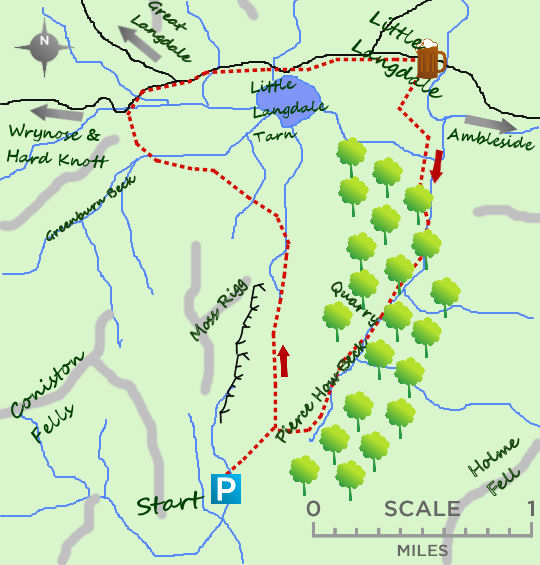 Little Langdale map