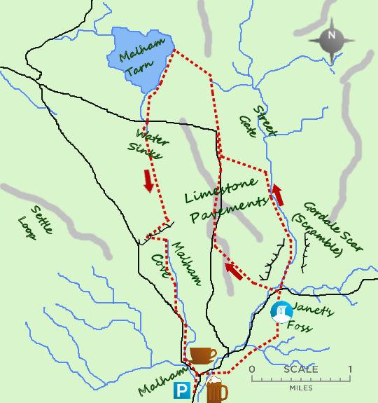 Malham & Gordale Scar map