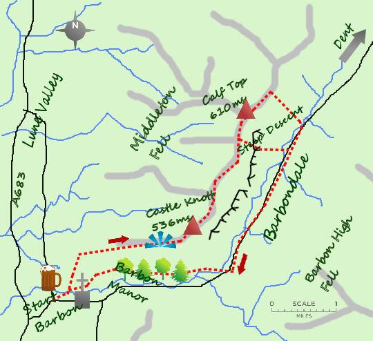 Barbondale map