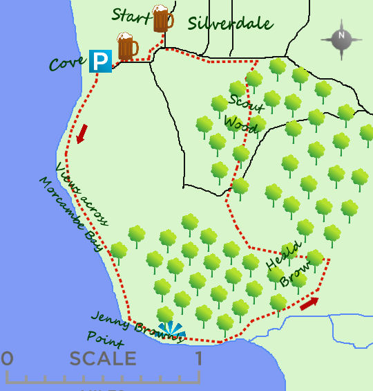 Silverdale map