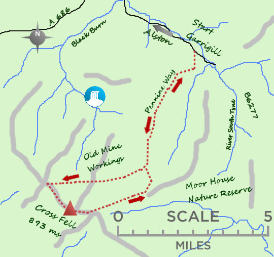 Cross Fell map