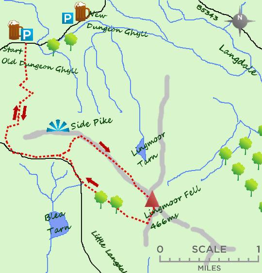 Lingmoor Fell map