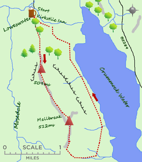 Mellbreak map