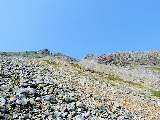 Scree on Great Gable