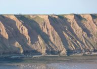 Cliffs on Filey Brigg