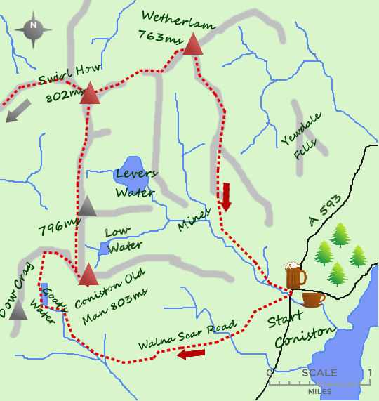 Coniston Round map