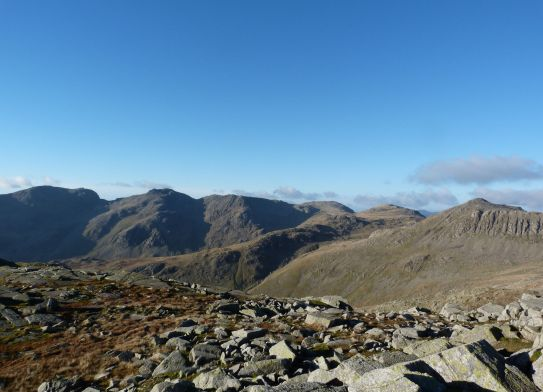 The Scafells in view
