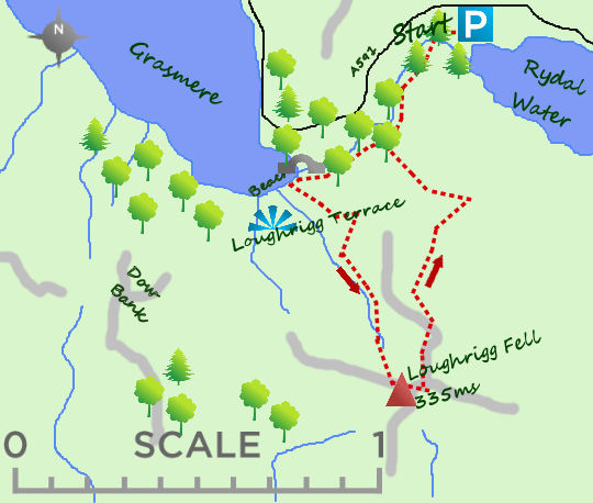 Loughrigg Fell map