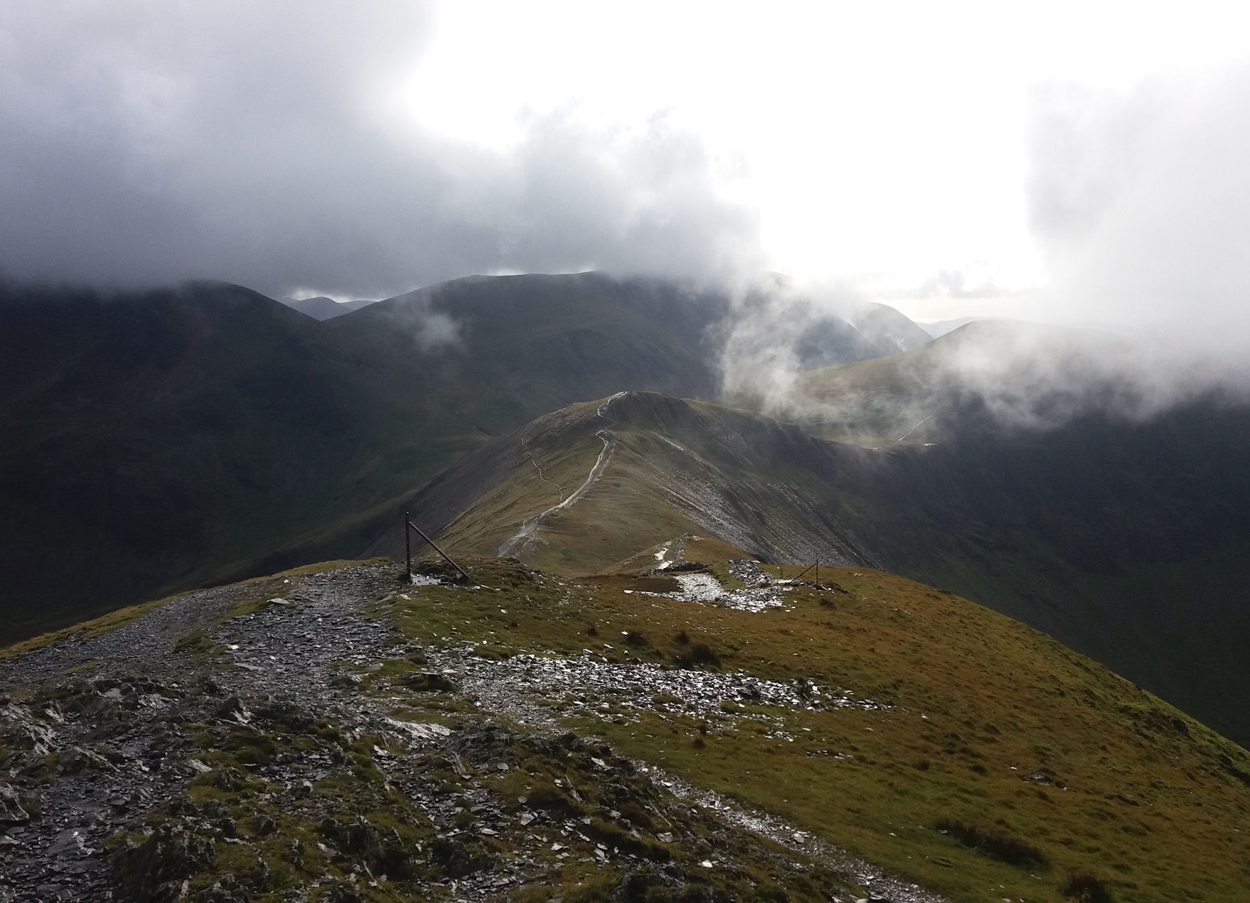 Stormy on Grisedale Pike