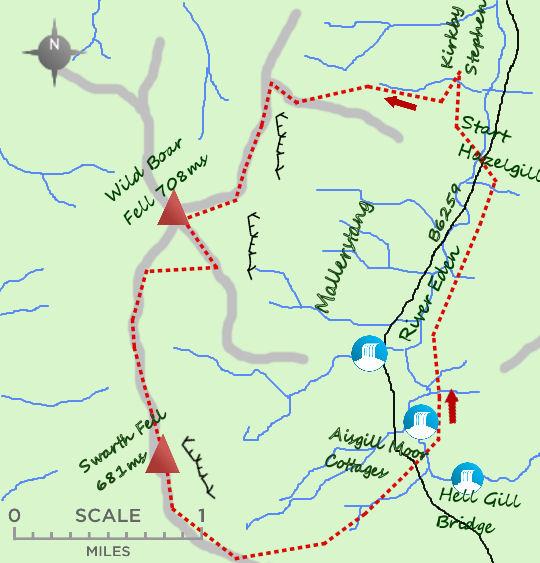 Wild Boar Fell map