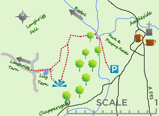Above Ambleside map