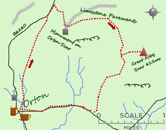 Orton Scar map