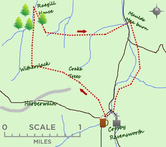 River Lyvennet villages map