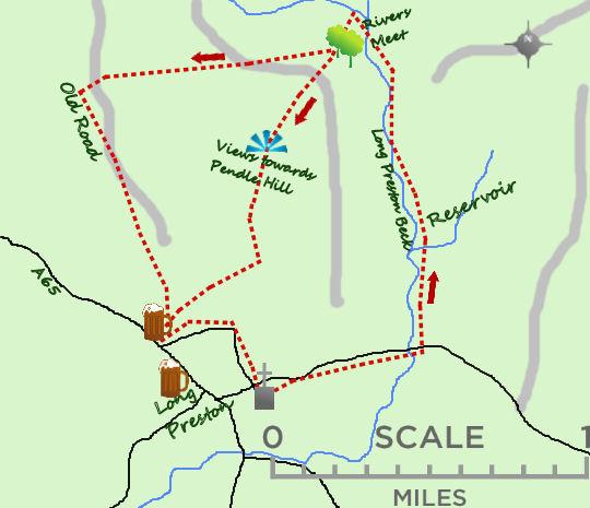 Long Preston map 8 stiles map