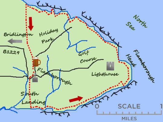Flamborough Head Map Flamborough Head   Where2Walk Where2Walk