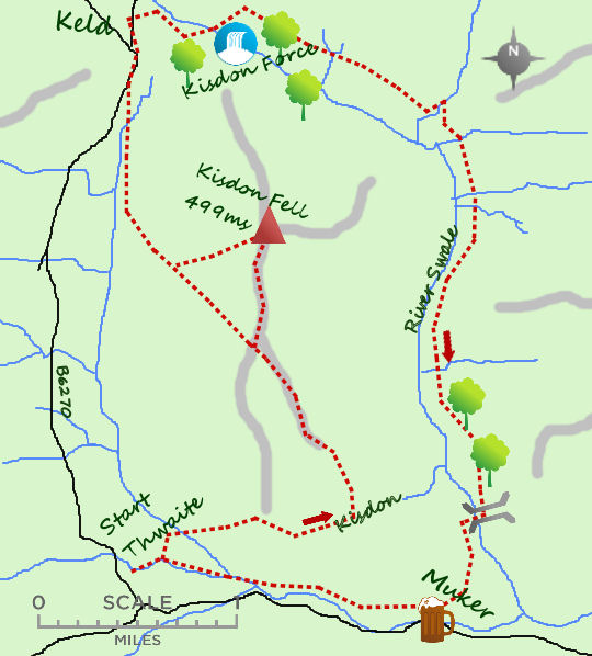 Kisdon Hill map