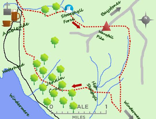 Wansfell & Windermere map