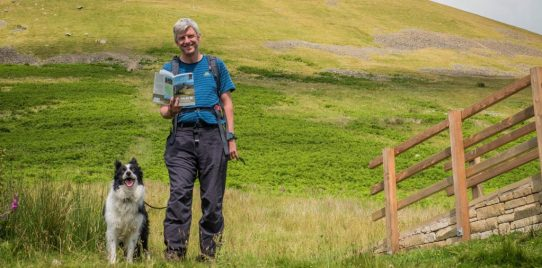Jonathan and Mist with a copy of The Dales 30 book.