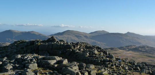 Over to the Coniston range