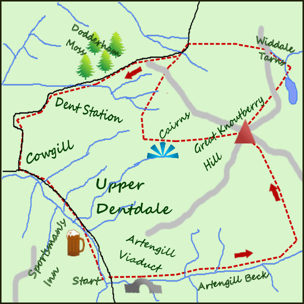 Great Knoutberry Hill map