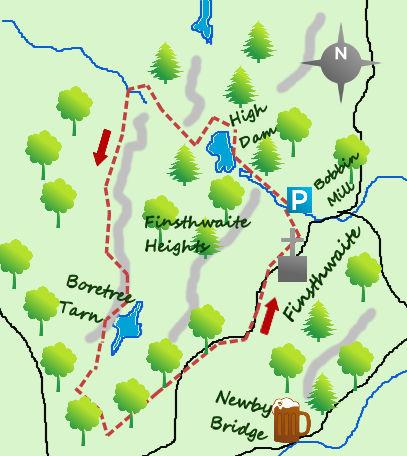 Finsthwaite and High Dam map
