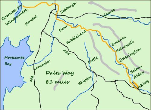 Dales Way map