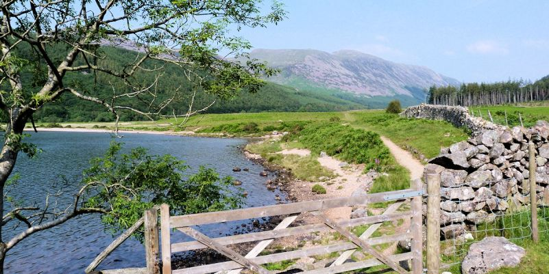 Eastern shore at Ennerdale