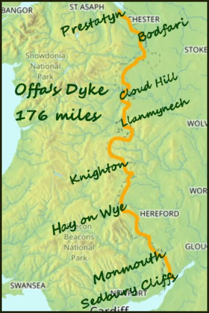 Offas Dyke map