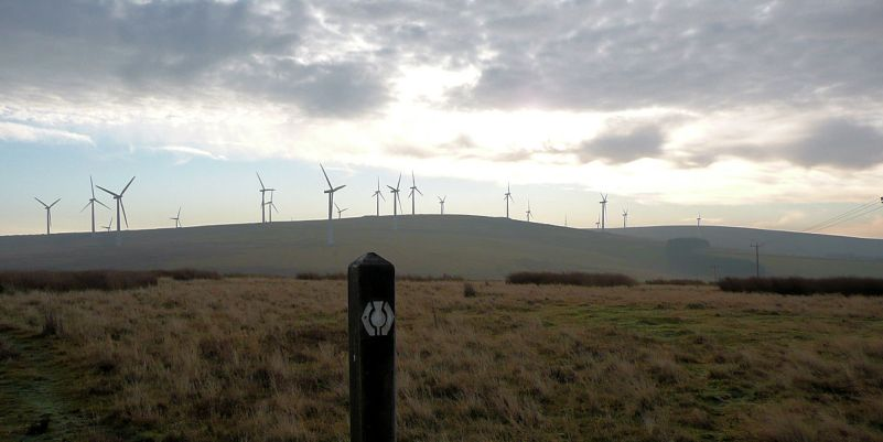 Turbines above Owl Wood