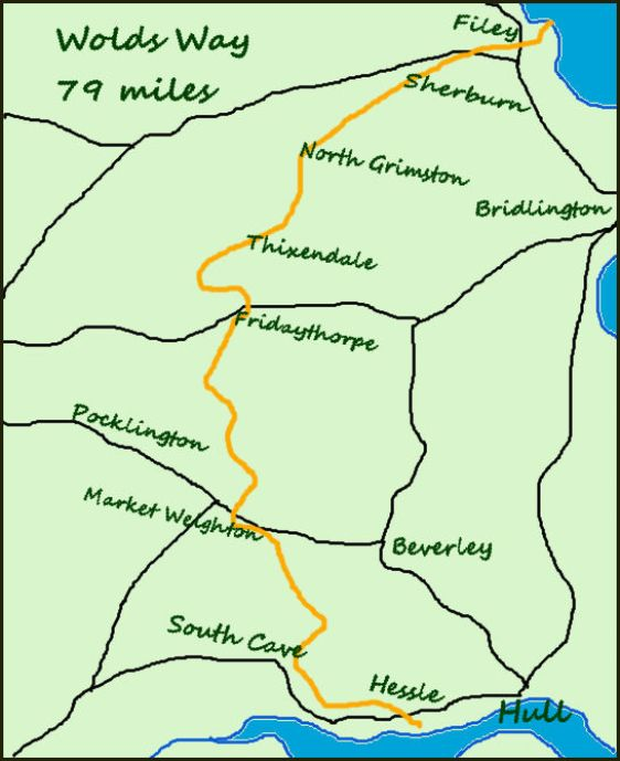 Wolds Way map