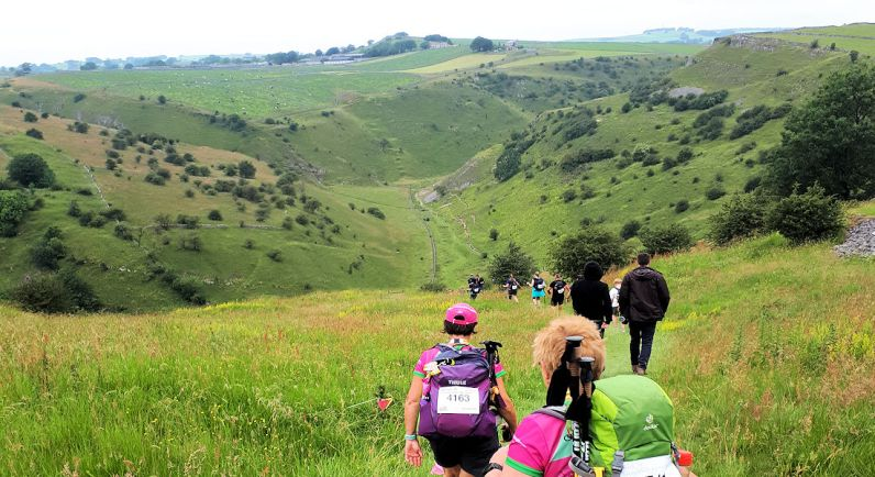 Tansley Dale, steep descent