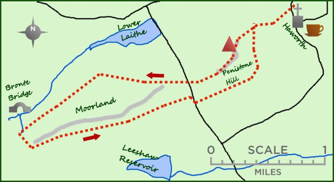 Penistone Hill map
